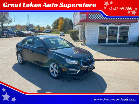 2015 Chevrolet Cruze for sale at Great Lakes Auto Superstore in Pontiac MI