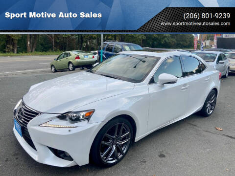 2014 Lexus IS 250 for sale at Sport Motive Auto Sales in Seattle WA