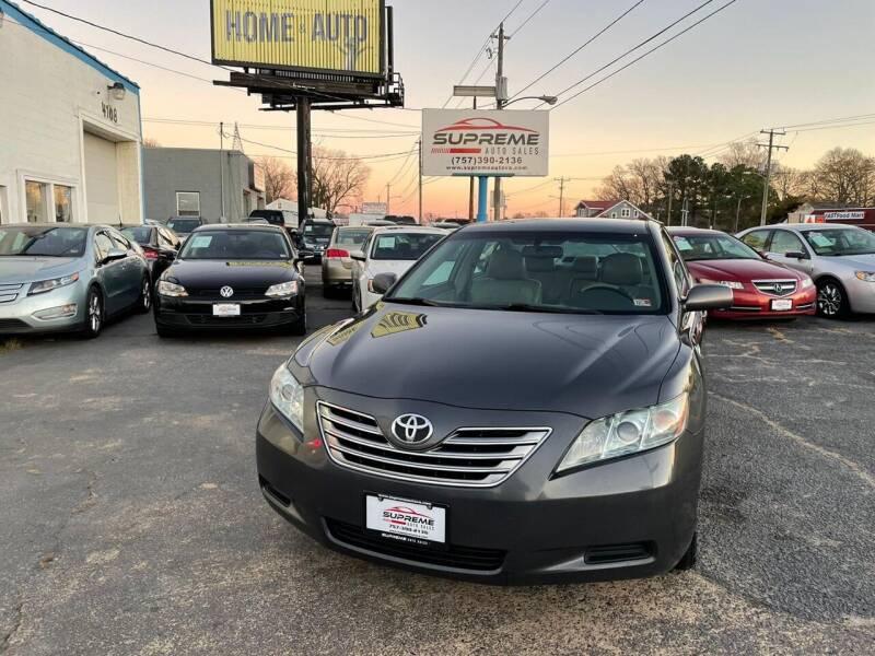 2008 Toyota Camry Hybrid for sale at Supreme Auto Sales in Chesapeake VA