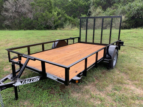"""2021 FALCON 12' X 77"""" UTILITY for sale at Trophy Trailers in New Braunfels TX"""