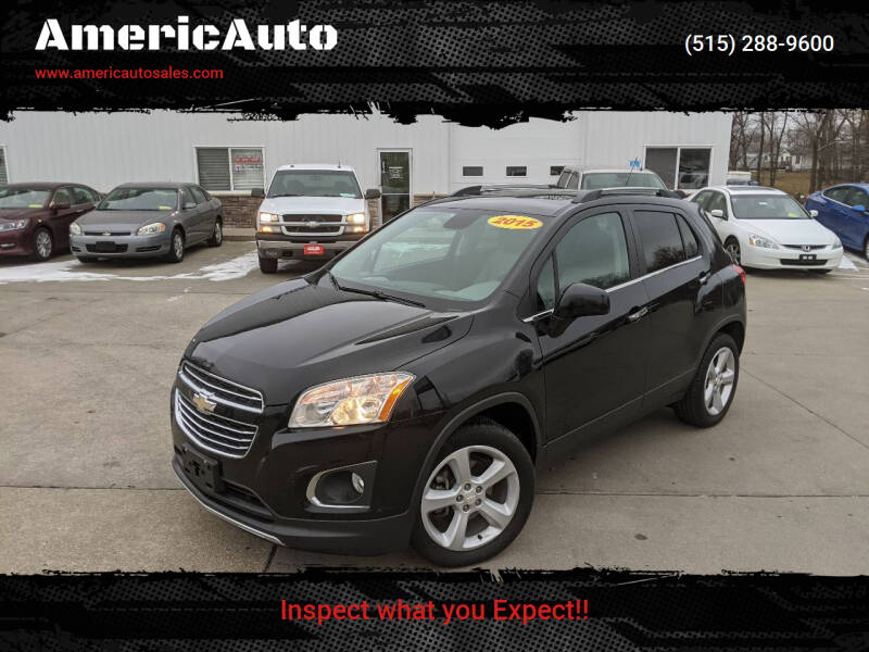 2015 Chevrolet Trax for sale at AmericAuto in Des Moines IA