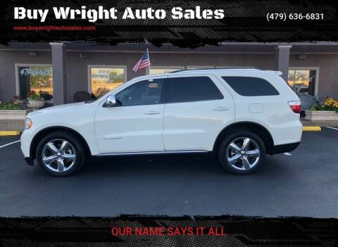 2012 Dodge Durango for sale at Buy Wright Auto Sales in Rogers AR