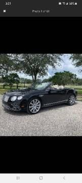 2016 Bentley Continental for sale at Team One Motorcars, LLC in Marietta GA