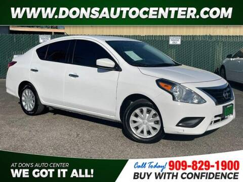 2018 Nissan Versa for sale at Dons Auto Center in Fontana CA