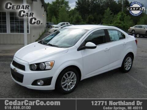 2013 Chevrolet Sonic for sale at Cedar Car Co in Cedar Springs MI