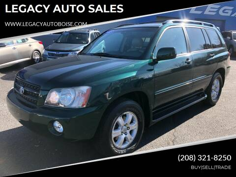 2003 Toyota Highlander for sale at LEGACY AUTO SALES in Boise ID