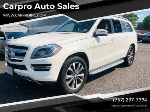 2013 Mercedes-Benz GL-Class for sale at Carpro Auto Sales in Chesapeake VA