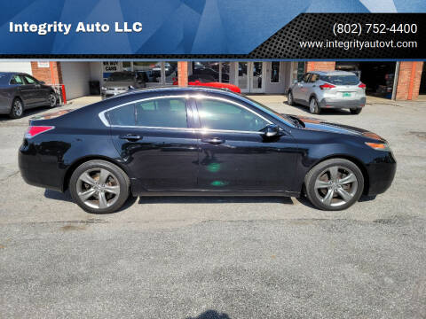 2013 Acura TL for sale at Integrity Auto 2.0 in Saint Albans VT