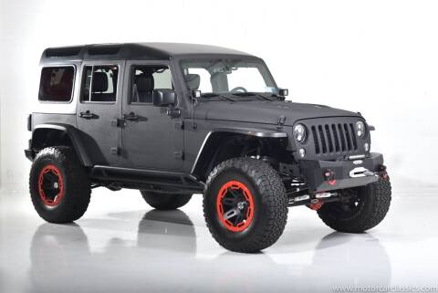 2016 Jeep Wrangler Unlimited for sale at Motorcar Classics in Farmingdale NY