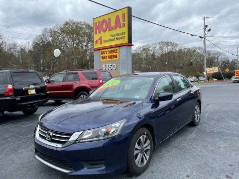 2013 Honda Accord for sale at No Full Coverage Auto Sales in Austell GA
