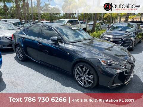 2018 Lexus IS 350 for sale at AUTOSHOW SALES & SERVICE in Plantation FL
