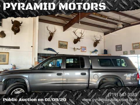 2003 Dodge Dakota for sale at PYRAMID MOTORS - Pueblo Lot in Pueblo CO