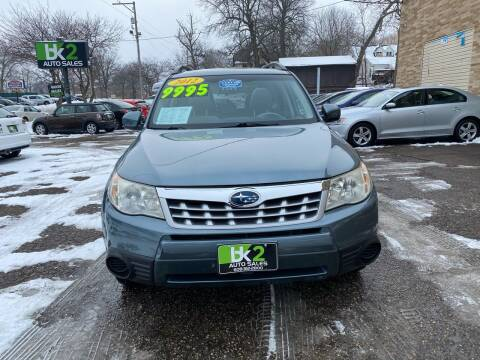 2012 Subaru Forester for sale at BK2 Auto Sales in Beloit WI