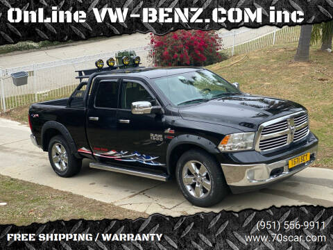 2014 RAM Ram Pickup 1500 for sale at OnLine VW-BENZ.COM Auto Group in Riverside CA