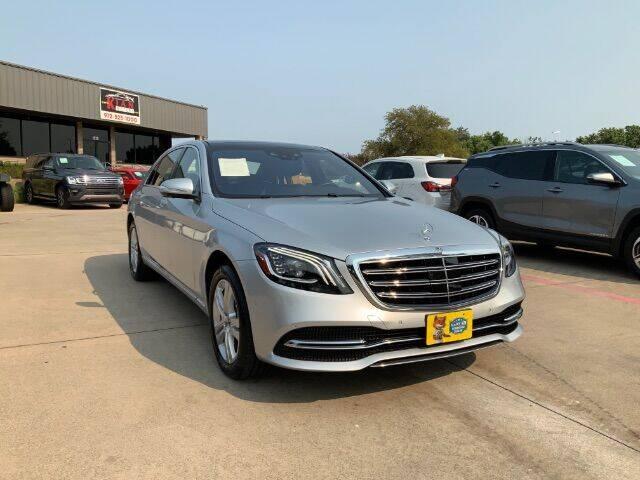2018 Mercedes-Benz S-Class for sale at KIAN MOTORS INC in Plano TX