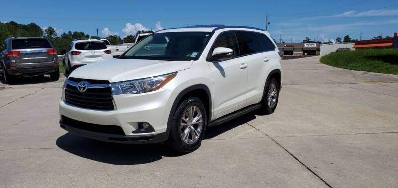 2015 Toyota Highlander for sale at WHOLESALE AUTO GROUP in Mobile AL