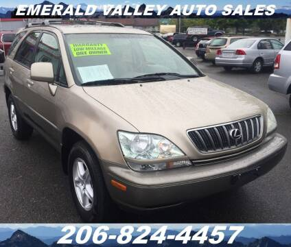 2001 Lexus RX 300 for sale at Emerald Valley Auto Sales in Des Moines WA