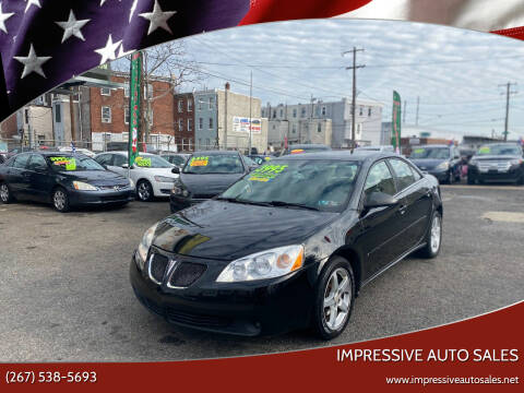 2007 Pontiac G6 for sale at Impressive Auto Sales in Philadelphia PA