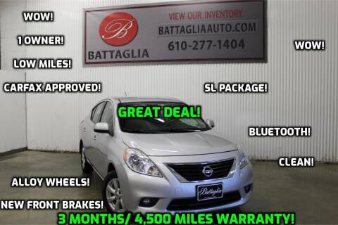 2012 Nissan Versa for sale at Battaglia Auto Sales in Plymouth Meeting PA