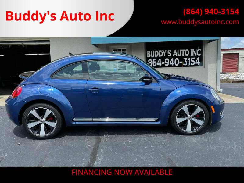 2012 Volkswagen Beetle for sale at Buddy's Auto Inc in Pendleton SC
