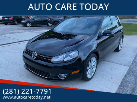 2012 Volkswagen Golf for sale at AUTO CARE TODAY in Spring TX