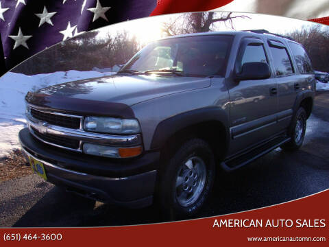 2003 Chevrolet Tahoe for sale at American Auto Sales in Forest Lake MN