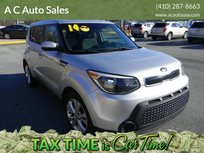 2014 Kia Soul for sale at A C Auto Sales in Elkton MD