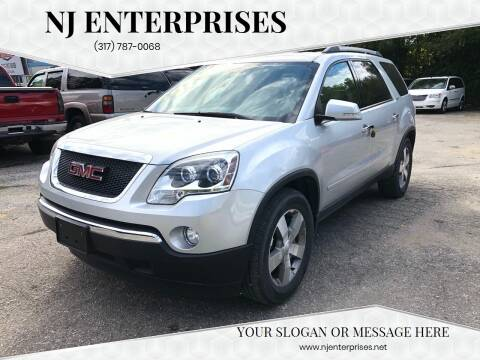 2010 GMC Acadia for sale at NJ Enterprises in Indianapolis IN