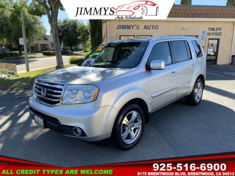 2012 Honda Pilot for sale at JIMMY'S AUTO WHOLESALE in Brentwood CA