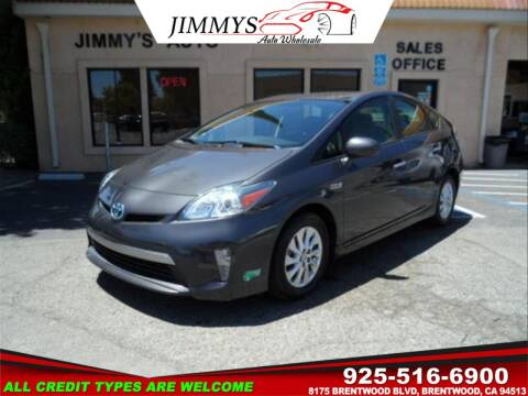 2015 Toyota Prius Plug-in Hybrid for sale at JIMMY'S AUTO WHOLESALE in Brentwood CA