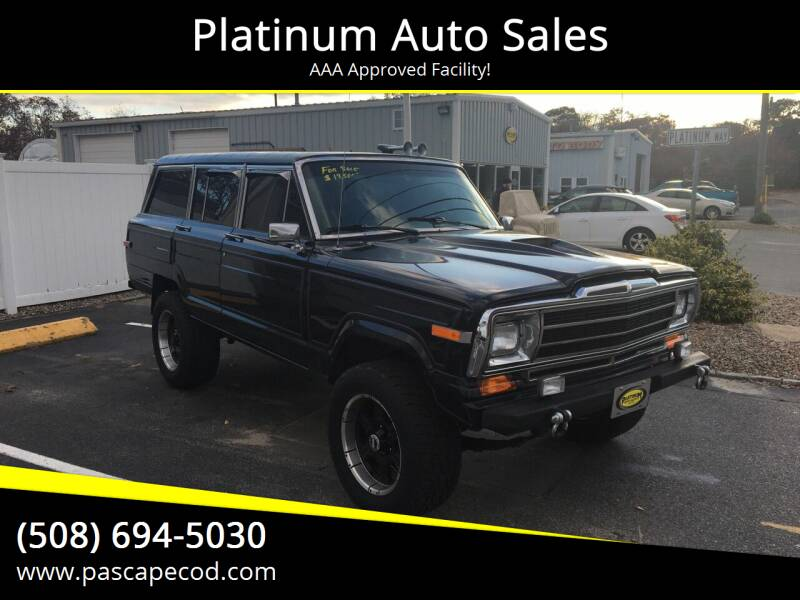 1988 Jeep Grand Wagoneer for sale at Platinum Auto Sales in South Yarmouth MA