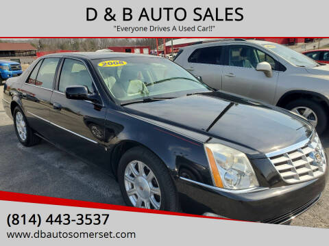 2008 Cadillac DTS for sale at D & B AUTO SALES in Somerset PA