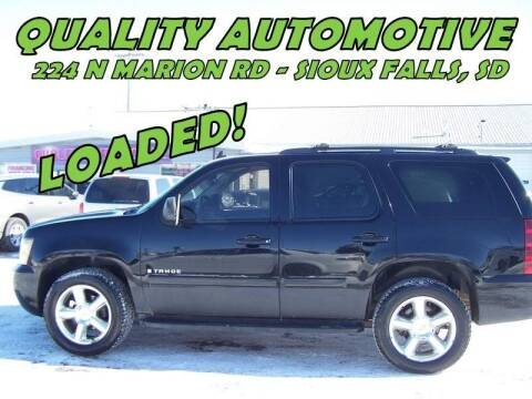 2007 Chevrolet Tahoe for sale at Quality Automotive in Sioux Falls SD