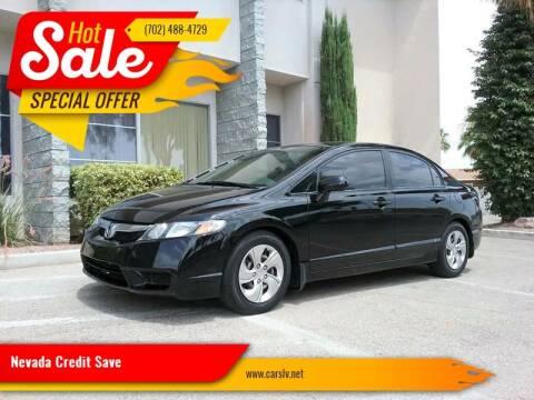 2009 Honda Civic for sale at Nevada Credit Save in Las Vegas NV