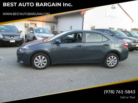 2015 Toyota Corolla for sale at BEST AUTO BARGAIN inc. in Lowell MA