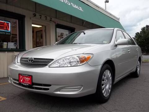 2002 Toyota Camry for sale at 1st Choice Auto Sales in Fairfax VA