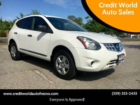 2014 Nissan Rogue Select for sale at Credit World Auto Sales in Fresno CA