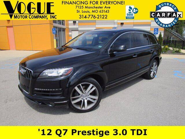 2012 Audi Q7 for sale at Vogue Motor Company Inc in Saint Louis MO