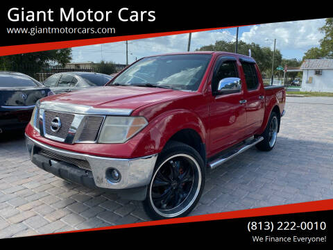 2008 Nissan Frontier for sale at Giant Motor Cars in Tampa FL