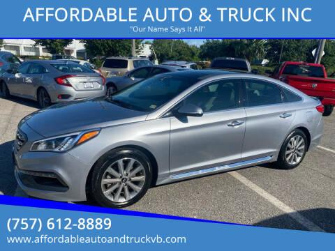 2016 Hyundai Sonata for sale at AFFORDABLE AUTO & TRUCK INC in Virginia Beach VA
