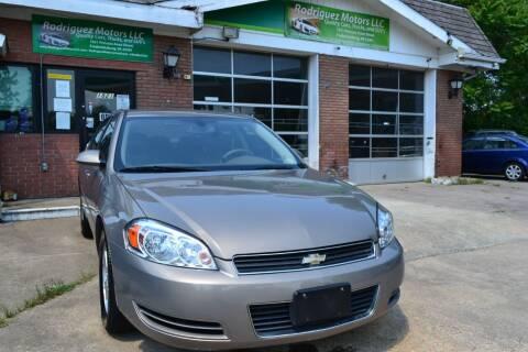 2007 Chevrolet Impala for sale at RODRIGUEZ MOTORS LLC in Fredericksburg VA