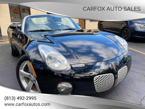 2007 Pontiac Solstice for sale at Carfox Auto Sales in Tampa FL
