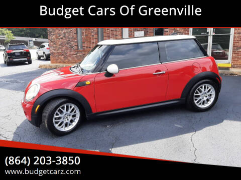 2007 MINI Cooper for sale at Budget Cars Of Greenville in Greenville SC