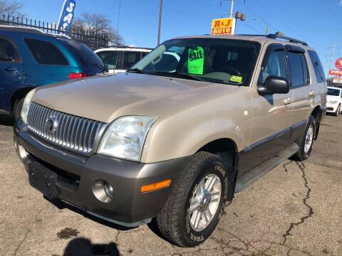 2004 Mercury Mountaineer for sale at RJ AUTO SALES in Detroit MI