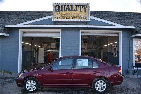 2003 Honda Civic for sale at Quality Pre-Owned Automotive in Cuba MO