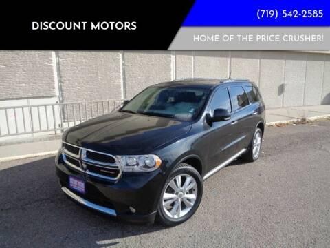 2013 Dodge Durango for sale at Discount Motors in Pueblo CO