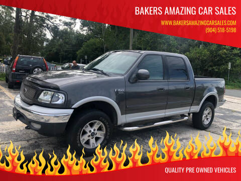 2002 Ford F-150 for sale at Bakers Amazing Car Sales in Jacksonville FL