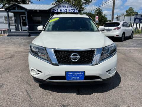 2016 Nissan Pathfinder for sale at QUALITY PREOWNED AUTO in Houston TX