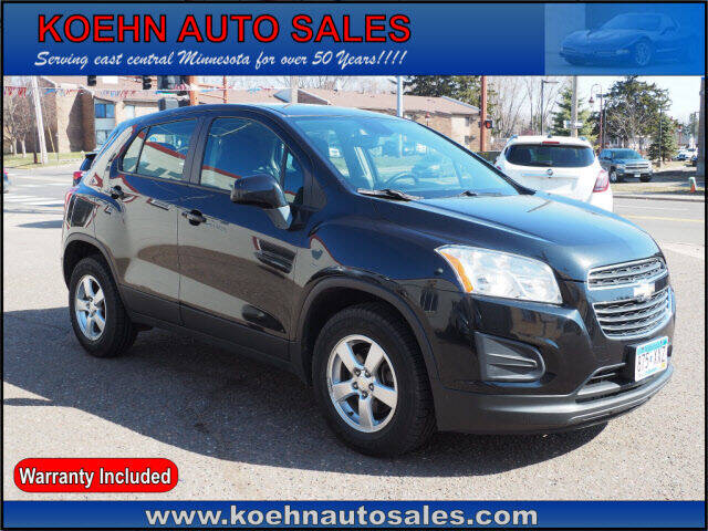 2015 Chevrolet Trax for sale at Koehn Auto Sales in Lindstrom MN