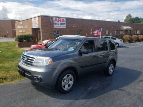 2012 Honda Pilot for sale at ARA Auto Sales in Winston-Salem NC